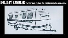 HOLIDAY RAMBLER TRAILER RV OPERATIONS MANUAL - 320pgs w/ Camper Repair & Service