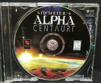 Sid Meier's Alpha Centauri   - PC Game CD ROM Disc, Case Mint Disc