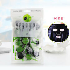 Natürliche Bambusholzkohle schwarze Gesichtsmaske Papierfaser-Gesicht Druckmaske