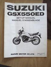 Original factory Set-up Manual Suzuki GSX550ED Mar 1983