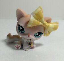 Littlest Pet Shop #224  Spotted Tabby  Kitty Cat, Blue Eyes.