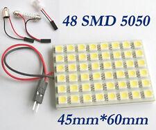 Car Interior 5050 Panel 48 SMD LED Pure White Light Lamp+T10+Festoon+BA9S 12V
