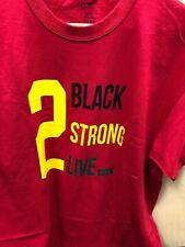 """2 Live Crew """"2 Black 2 Strong 2 Live  t shirt red shirt black gold green letters"""