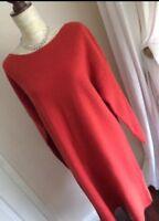 GORGEOUS BNWT MONSOON Size L 16/18 BURNT ORANGE ALPACA WOOL MIX JUMPER DRESS