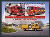 Chad 2018 CTO Fire Engines 2v M/S Camions de Pompiers Trucks Transport Stamps