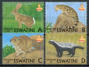 Swaziland Eswatini Wild Animals Stamps 2018 MNH Mammals Genets Badgers 4v Set