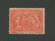 1897 Canada 20 Cent Jubilee Postage Stamp #59 Mint Hinged F/VF Original Gum