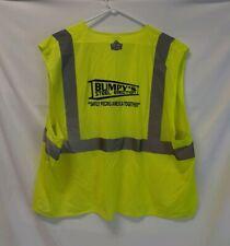 GLoWEAR High Visibility Safety Vest BUMPY'S STEEL ERECTION Co. Reflective ANSI