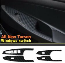 Decal-X Carbon Windows Switch Cover Sheet 4Pcs For Hyundai Tucson 2016+