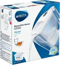 Brita Aluna Caraffa Filtrante con 1 Filtro Maxtra+ Incluso, Bianco, 2.4 Litri