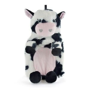 Hot Water Bottle with Novelty Plush Cow Cover ~ 750ml Bottle