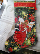 "Needlepoint Dimensions GOLD Stocking Kit,CHRISTMAS ANGEL,Ornaments,#9135,16"",USA"