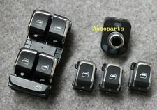 5pcs Chrome Master Window Mirror Switch For Audi A4 S4 B8 Q5 A5