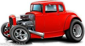 1930-34 FORD Hiboy 302 Street Rod Wall Graphic Decal Garage Decor Cling Man Cave