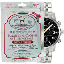 *NEW* CAPE COD FINE METAL POLISHING CLOTH FOR TISSOT WATCH - PACK OF 2