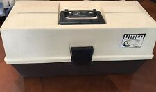 Vintage UMCO Tackle Box # 1293 Tan & Brown Fishing Gear 3 Tier Storage