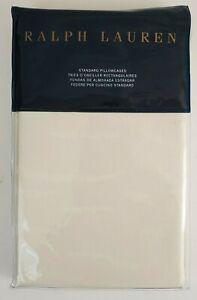 Ralph Lauren Olivia Mirada Standard Pillowcases Cream