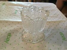Clear Avon candle holder