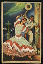 Embroidered clothing postcard Artist Gumier Spain Cordoba woman flamenco dance