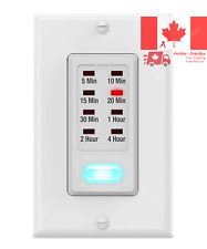 Light Timer Switch 9 Setting 1875W in-Wall Countdown Timer Switch ETL Listed ...