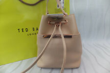 Ted Baker Ersilda Pop Up Handle Leather Cross Body Bucket Bag Taupe BNWT RP £159