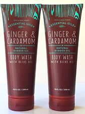 LOT 2 BATH & BODY WORKS GINGER & CARDAMOM WITH GINGER OIL BODY SHOWER WASH 10 OZ