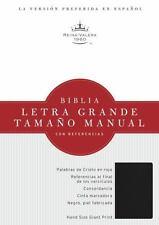 RVR 1960 Biblia Letra Grande Tamaño Manual, negro imitación piel co...