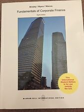 Fundamentals Of Corporate Finance 8th Ed By Brealey, Myers, Marcus