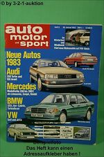 AMS Auto Motor Sport 2/83 Jaguar XJ 6 VW BUS T3 Wohnmobile Dehler Joker