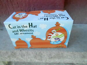3 MIB Dr. Seuss Cat in the Hat and Whozits Holiday Christmas Ornaments  (NBS3)