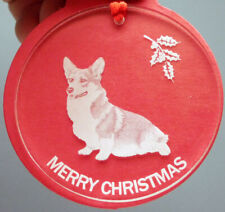 Corgi Dog Ornament, Lucite,
