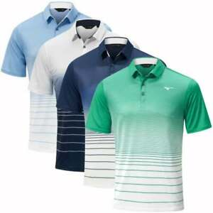 New 2021 Mizuno Mens Quick Dry Mirage Golf Polo Shirt - Choose Colour & Size