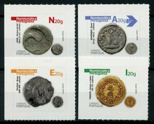 Portugal Coins on Stamps 2020 MNH Numismatics Part I Archaeology 4v S/A Set