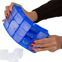 Large Silicone Ice Cube Tray Mold Square DIY Size ON Mould Big Jumbo 15 Giant