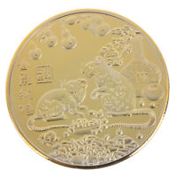 Year of the Rat Commemorative Coin Chinese Zodiac Souvenir Coin New Year Gift ME
