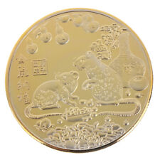 Year of the Rat Commemorative Coin Chinese Zodiac Souvenir Coin New Year Gifts