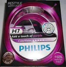 H7 PHILIPS COLORVISION PURPLE PHILIPS COLOUR VISION H7 PURPLE HEADLIGHT BULBS