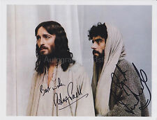 Robert Powell & Ian McShane HAND SIGNED 8x10 Photo Autograph, Jesus of Nazareth