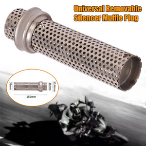 38mm Universal Motorcycle Exhaust Pipe Low Muffle Plug Baffle Insert Mesh Pipes