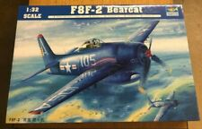 Trumpeter 1/32 F8F-2 Bearcat with Scale Aircraft Conversion Metal Landing Gear