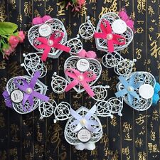 5Pcs Chocolate Candy Cinderella Carriage Boxes Birthday Wedding Party Favour New