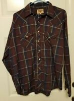 Vintage  Western Youngbloods Men's Pearl Snap Large Long Sleeve Shirt