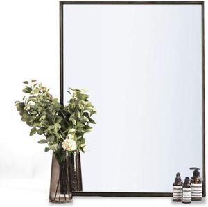 "ANDY STAR Bathroom Mirror Rustic Walnut Wall Mirror 22"" x 30"" Contemporary new"