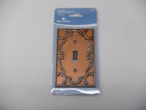 Brainerd Sponged Copper French Lace Single Toggle Switch Wall plate  New  HC2706