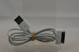 4FT Genuine Apple 30 Pin dock to USB cable for iPod Classic 4th 5th 6th 7th Gen