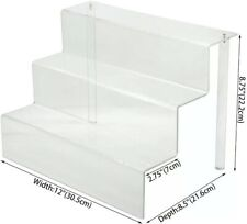 Acrylic Riser Display Shelf 3 Three Tier Clear Funko Two 2 Pack Cupcakes Spice