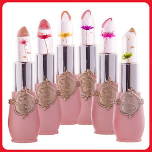 Moisturizer Crystal Jelly Flower Lipstick Lip Balm Temperature Color Changing~