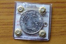 MONETA REPUBBLICA ITALIANA 500 LIRE 1989 MONDIALI CALCIO sigillata FDC SUBALPINA