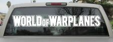 World of Warplanes Sticker - Vinyl Decal - Various Sizes & Colors - 2 Styles