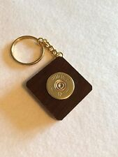 Purdey Shotgun Shell Cartridge Cap Solid Walnut Keyring Stunning End Grain Wood!